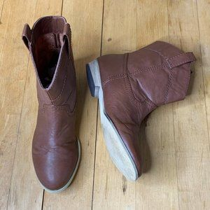 💝 3/$20 H&M brown ankle boots size 7 GUC